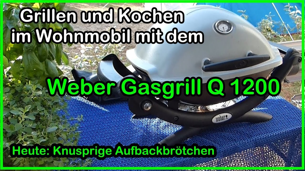 grillen und kochen im wohnmobil mit dem weber gas grill. Black Bedroom Furniture Sets. Home Design Ideas