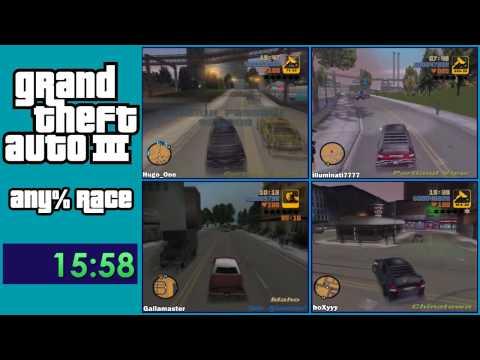 Grand Theft Auto III Any% Speedrun Race