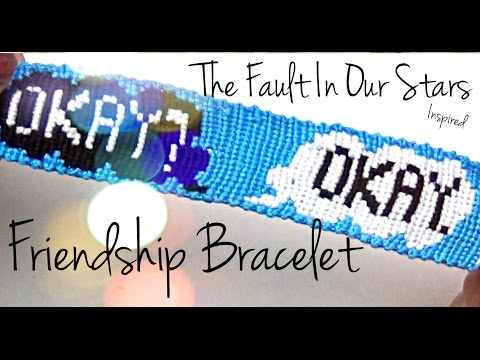 How to Make Friendship Bracelets ♥ The Fault in Our Stars Alpha Pattern