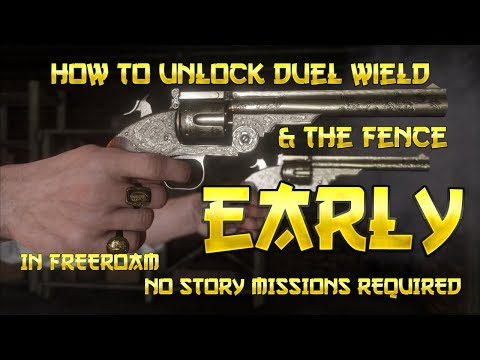 Red Dead Redemption 2 - How to Get Duel Wield + Fence - EARLY