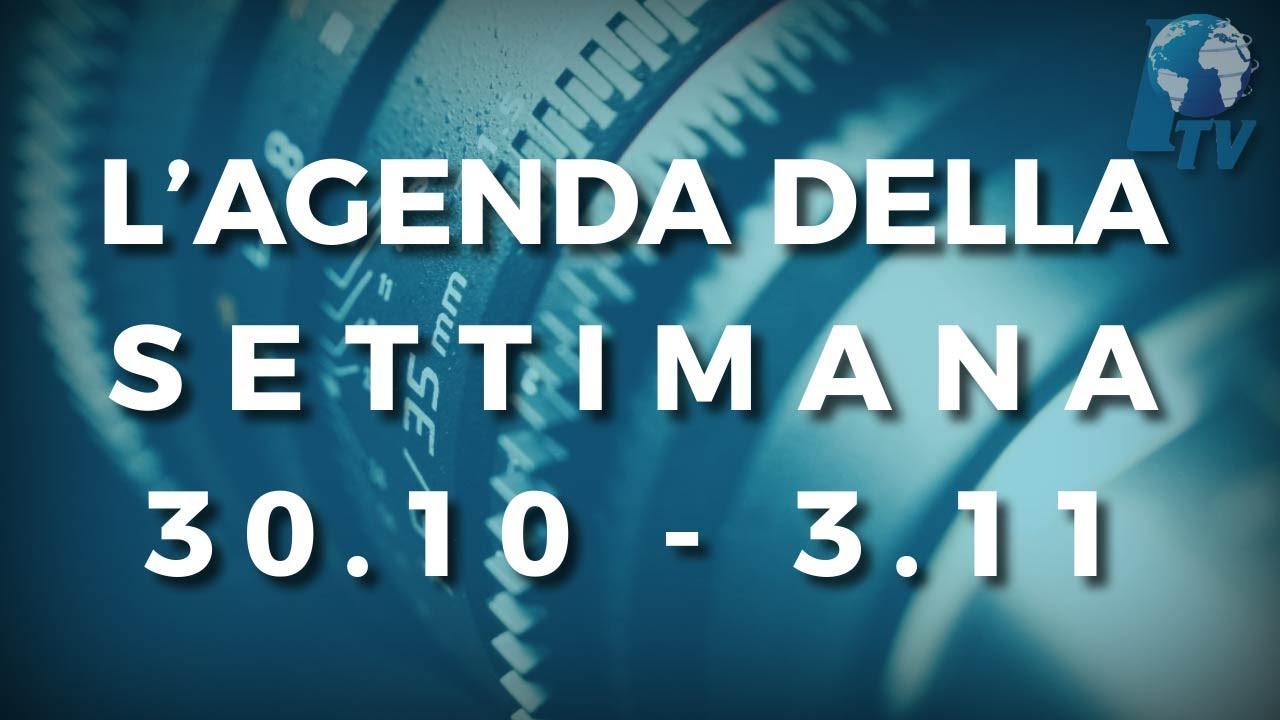 PTV News - L'agenda della settimana dal 30.10.17 al 3.11.17