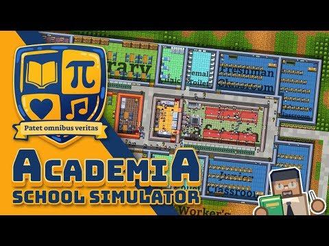 BUILDING MY OWN SCHOOL - Academia School Simulator