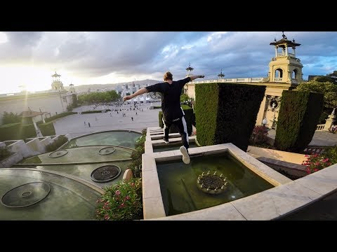 Thumbnail: GoPro: Freerunning Barcelona's Palace Fountain Steps with Jason Paul