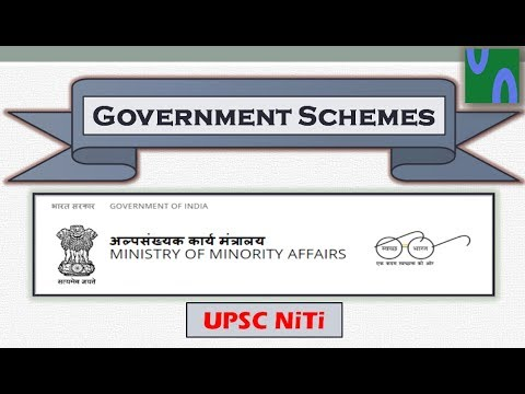 HINDI, Government schemes by Ministry of Minority affairs, UPSC prelim 2017