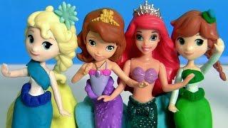 Aventura Submarina Princesinha Sofia com as Sereias Oona Anna Elsa Mermaids Disney Frozen Play-Doh