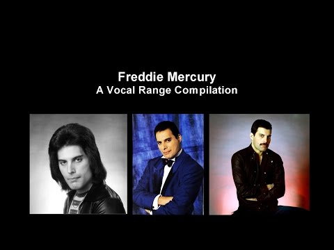 Freddie Mercury - A Vocal Range Compilation F2-F6