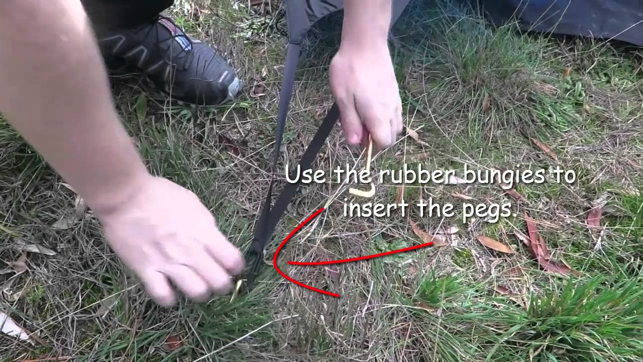 Setting up the Wilderness Equipment Tent & Setting up the Wilderness Equipment Tent - YouTube