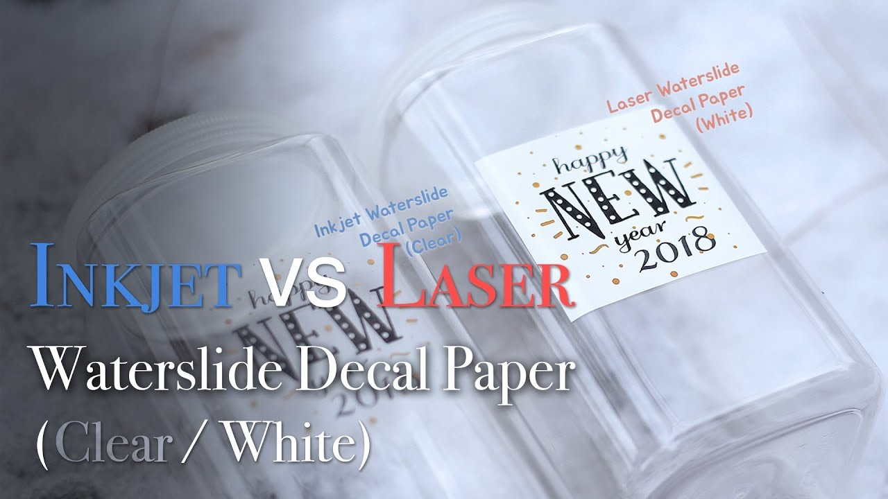Difference between inkjet laser watersilde decal paper