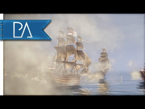 MASSIVE NAVAL BATTLE - Napoleon Total War - Darth Mod Gameplay