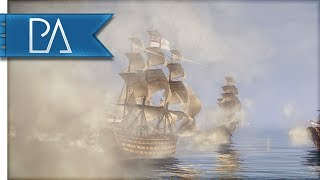 MASSIVE NAVAL BATTLE - Napoleon Total War - Darth Mod Gameplay