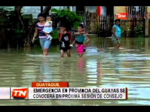 Emergencia en provincia del Guayas se conocerá en próxima sesión de consejo