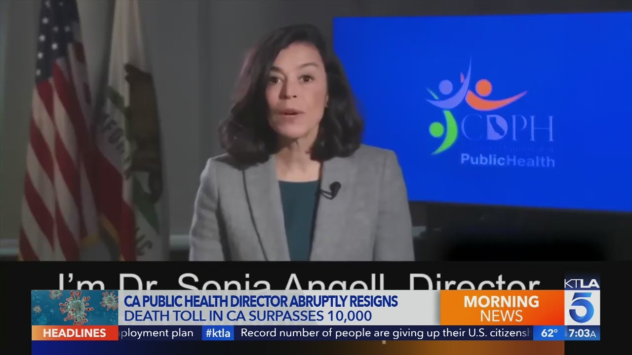 Dr. Sonia Angell resigns as California public health officer