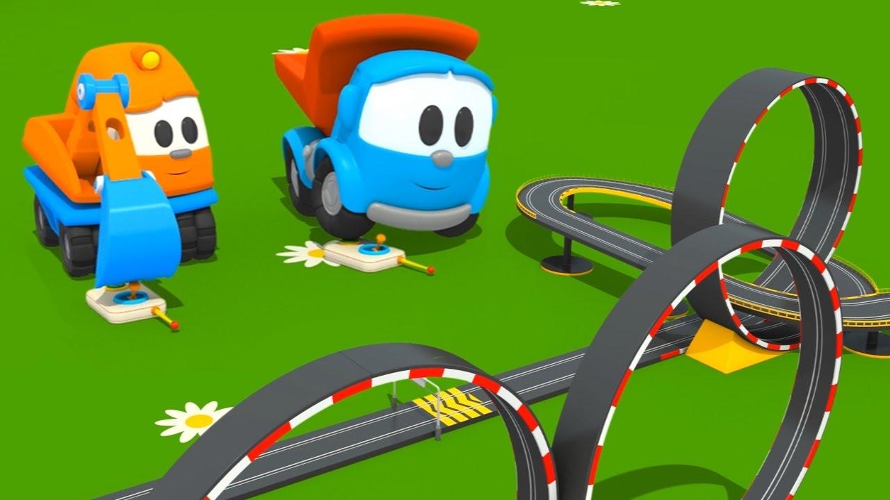 Cartoni animati per bambini camioncino leo junior e la pista