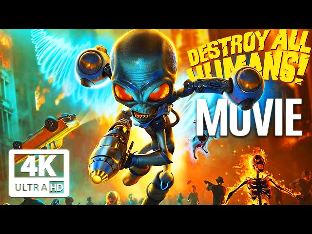 DESTROY ALL HUMANS REMAKE All Cutscenes (Game Movie) PC 4K 60FPS UltraHD