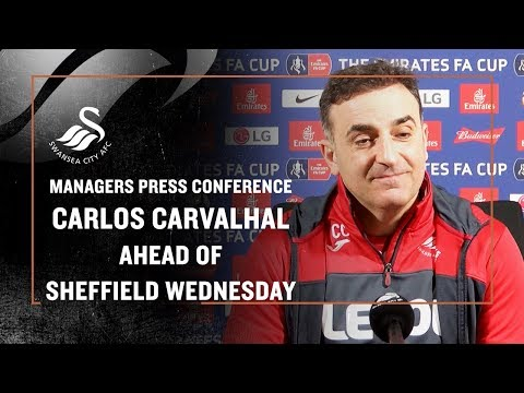 Press Conference Live: Carlos Carvalhal ahead of Sheffield Wednesday