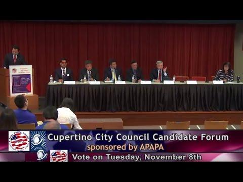 APAPA Cupertino City Council Candidate Forum 2016