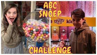 DE ALFABET SNOEP CHALLENGE met TOBIAS | ABC Challenge - Bibi
