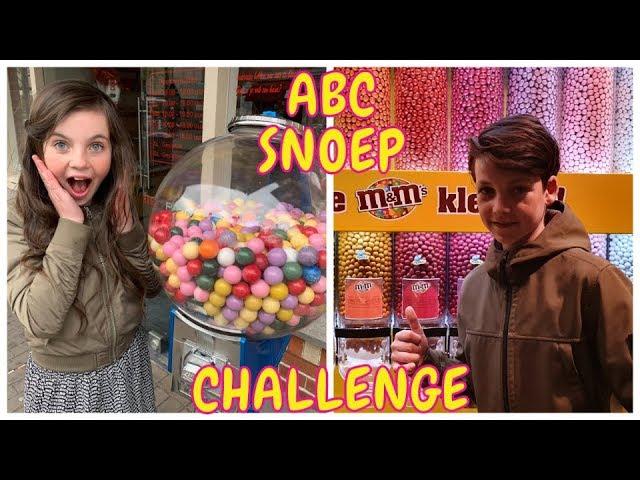 DE ALFABET SNOEP CHALLENGE met TOBIAS   ABC Challenge - Bibi