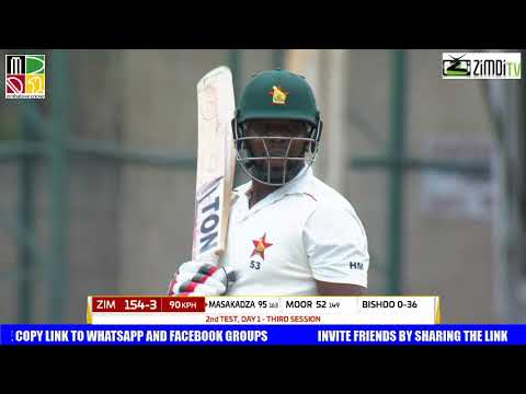 Zim V West Indies 2nd Test 2017 3rd Session Day ONE