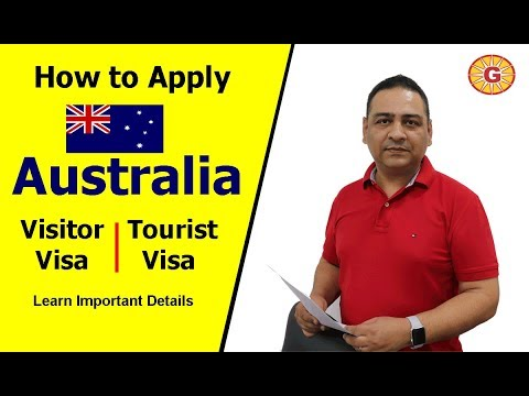 How To Apply Australia Visitor/ Tourist Visa - Imp. Details For 100% Success