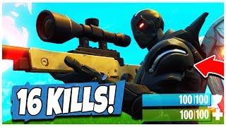 INSANE 16 Kill Solo Squads Gameplay! - Fortnite: Battle Royale | TBNRKENWORTH