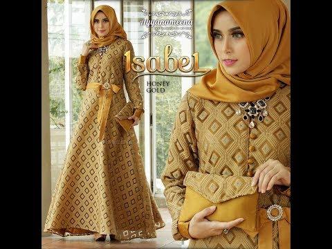 Trend Gamis Lebaran 2018 Simple Mewah Elegan - Baju Pesta Muslimah Modern