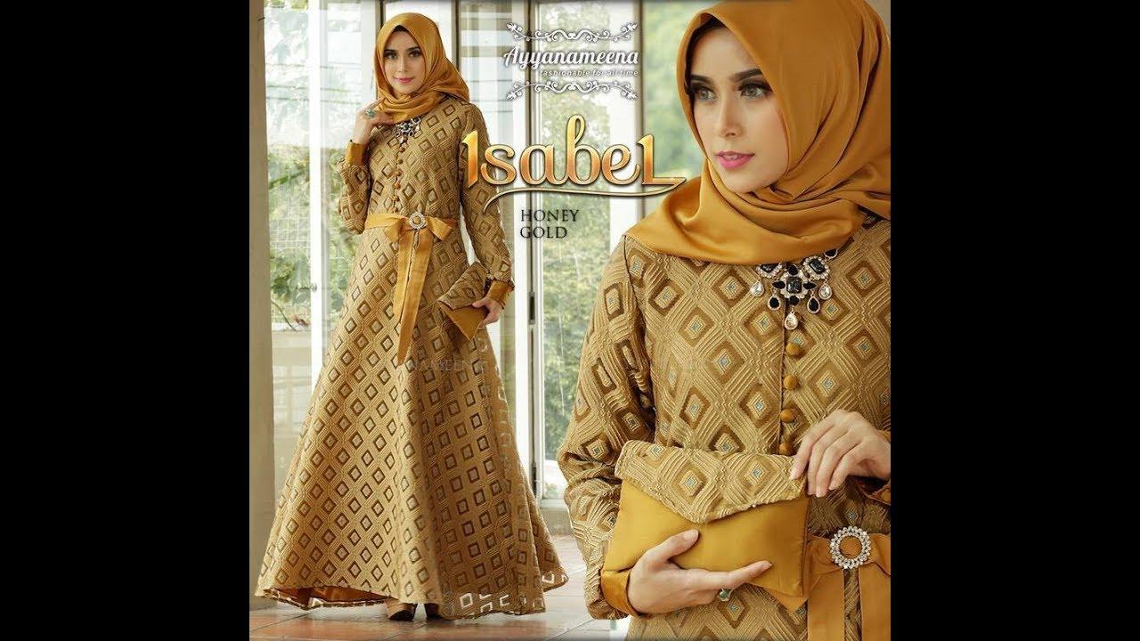 Trend Gamis Lebaran 2018 Simple Mewah Elegan Baju Pesta Muslimah