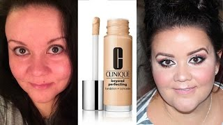 clinique beyond perfecting foundation concealer   first impressions oily skin