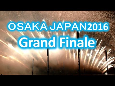Osaka Japan Fireworks Festival 2016 Grand Finale Land of Hope and Glory 60FPS