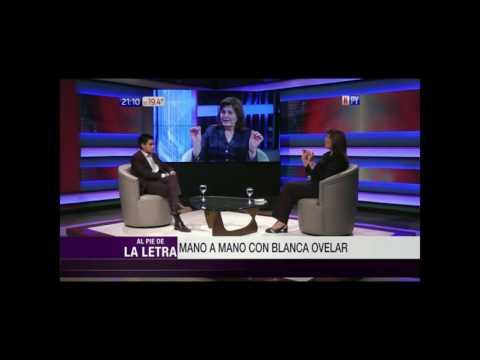 Blanca Ovelar en el programa Al Pie de la Letra de Santiago González