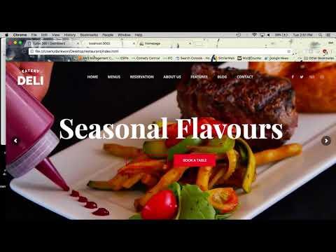 1. Node & Express Tutorial - Restaurant Website