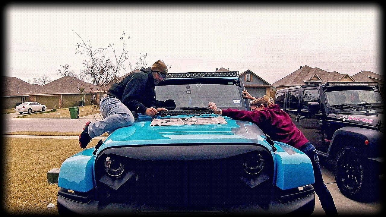 Episode 325 Jeep Wrangler Hood Mount Light Bar Install From Wiring Mictunning