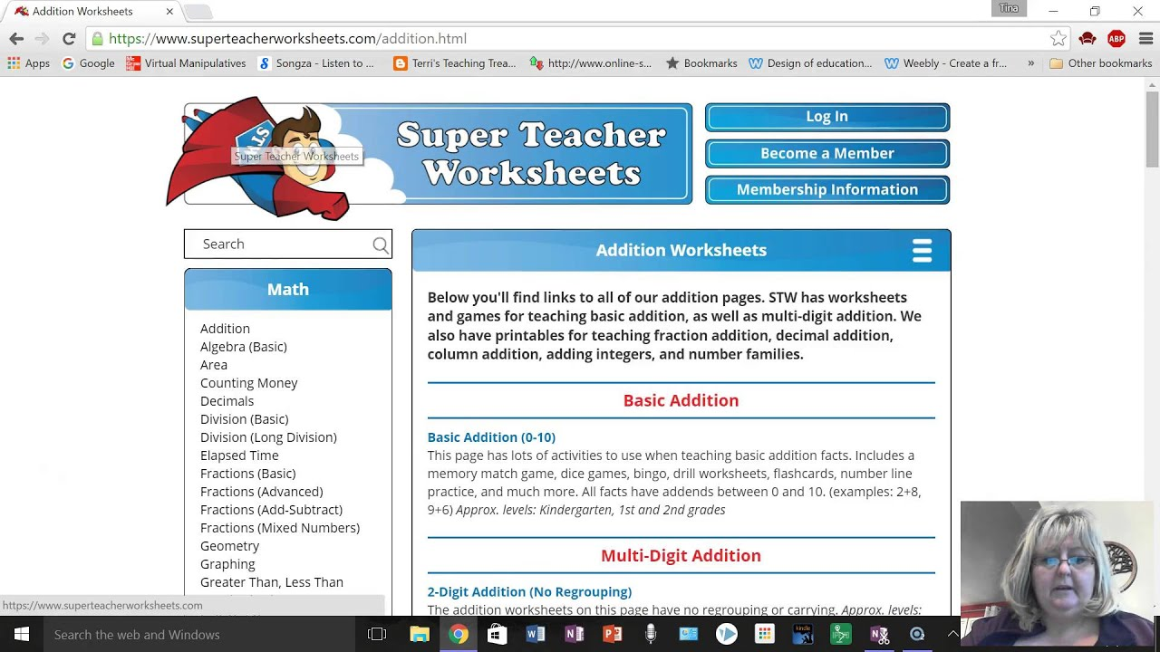 Super Teacher Worksheets Site