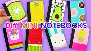 How to Make EIGHT Mini Kawaii Notebooks (Back-to-school DIYs)!