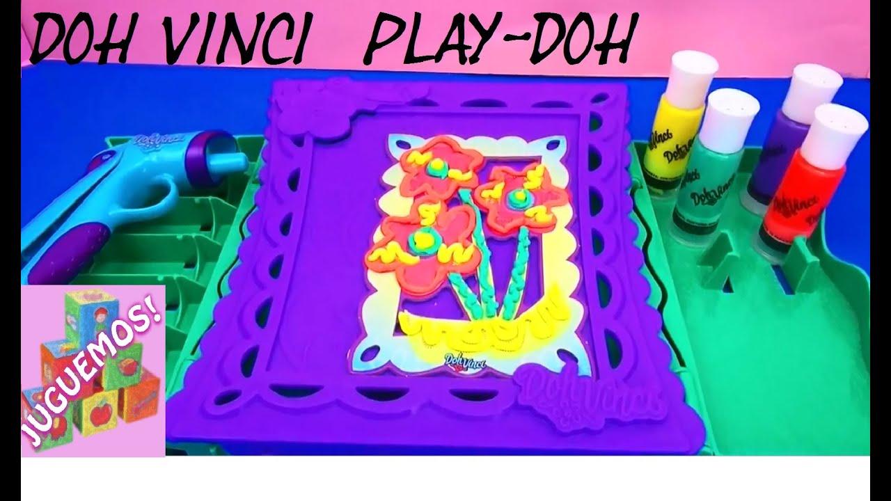 DOH VINCI EL JUGUETE DE PLAYDOH PARA PINTAR CON PLASTILINA  DEMO
