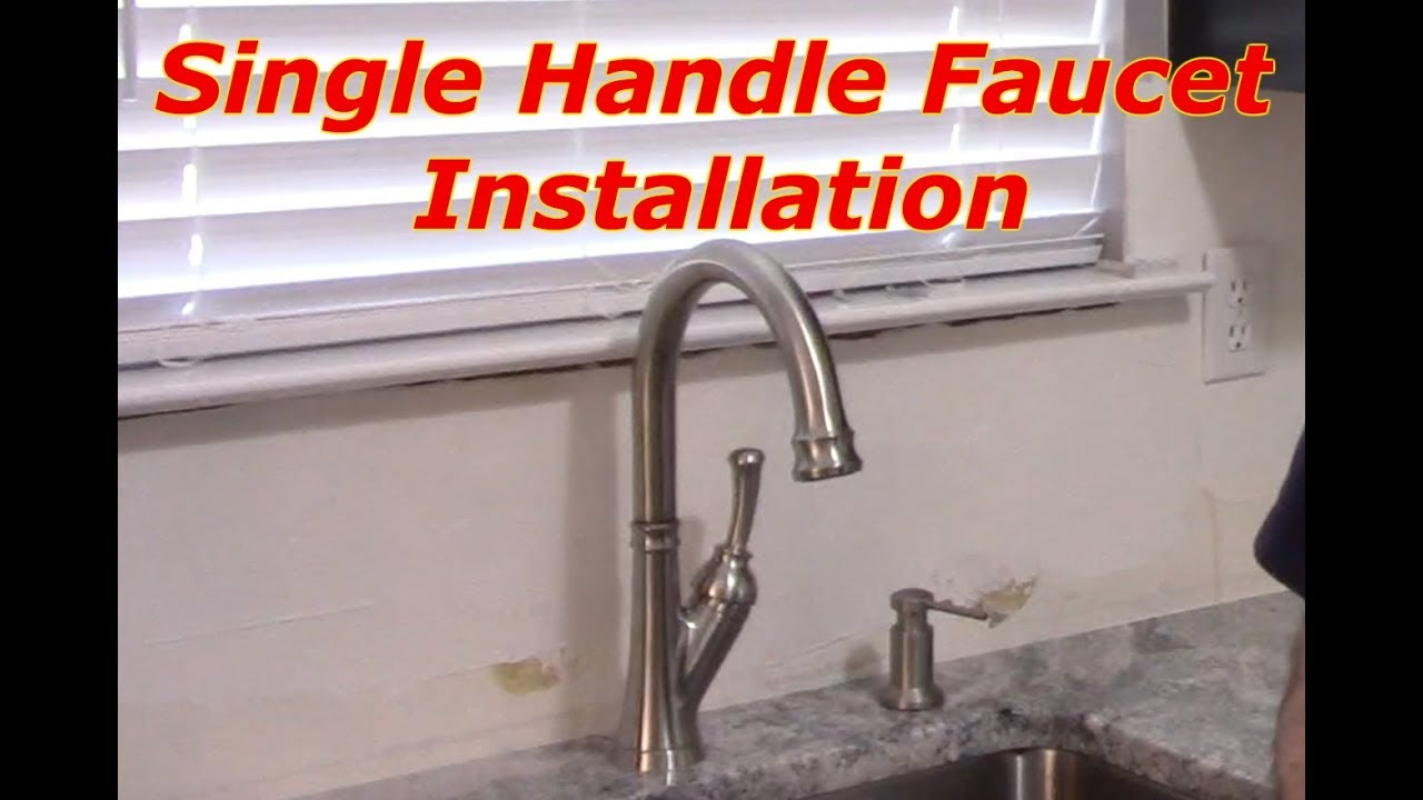 How To Remove And Replace A Kitchen Faucet Youtube