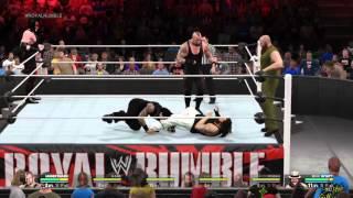 WWE 2K15 Undertaker,kane, and roman reigns vs the Wyatt Family