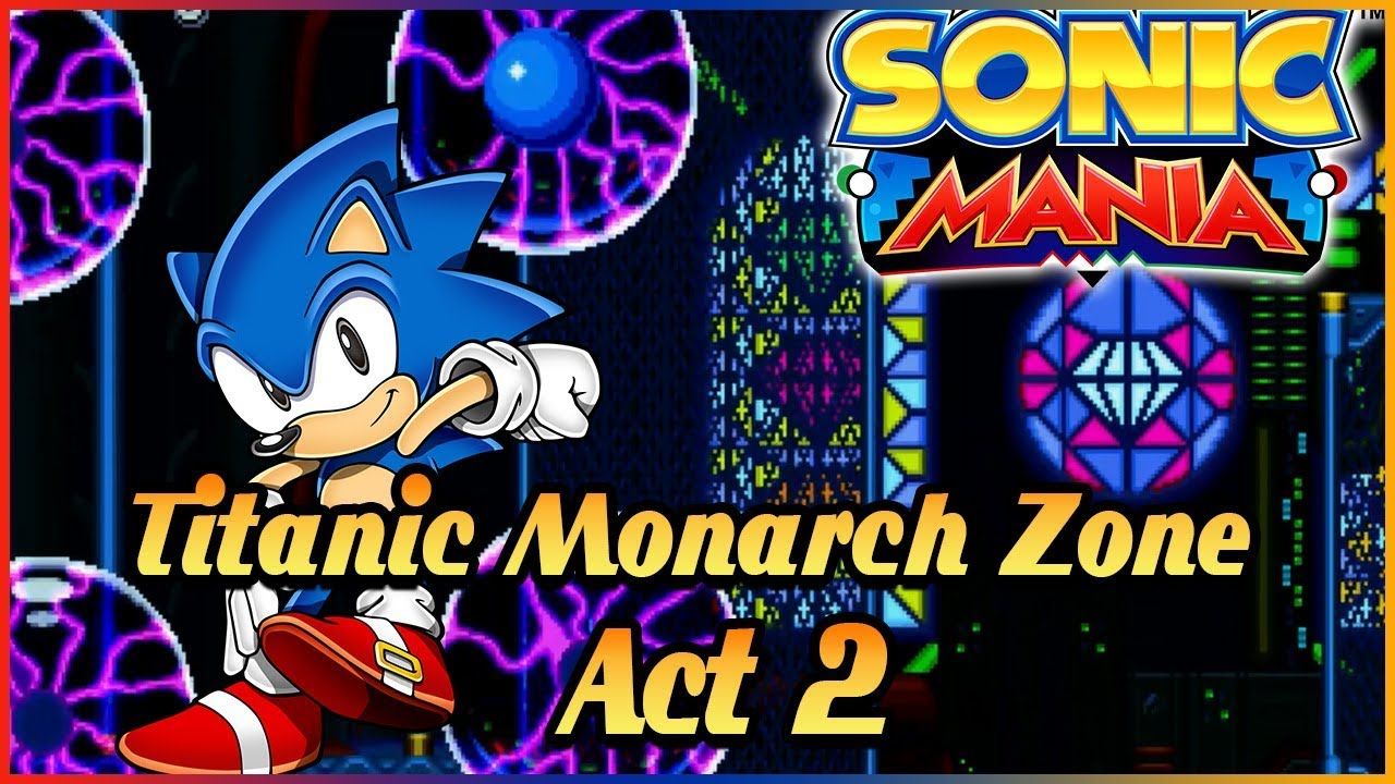Pure Evil Sonic Mania Titanic Monarch Zone Act 2 Boss Bad Ending Youtube