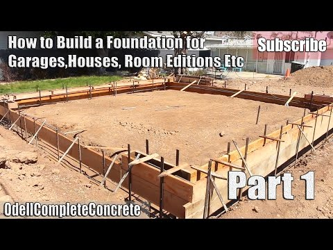 How to Build and setup a Concrete Foundation for Garages, Ho