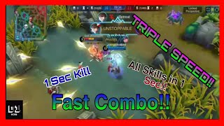 GUSION Best Play Montages #3  (TRIPLE SPEED) All Skills In 1 Sec?!!😱