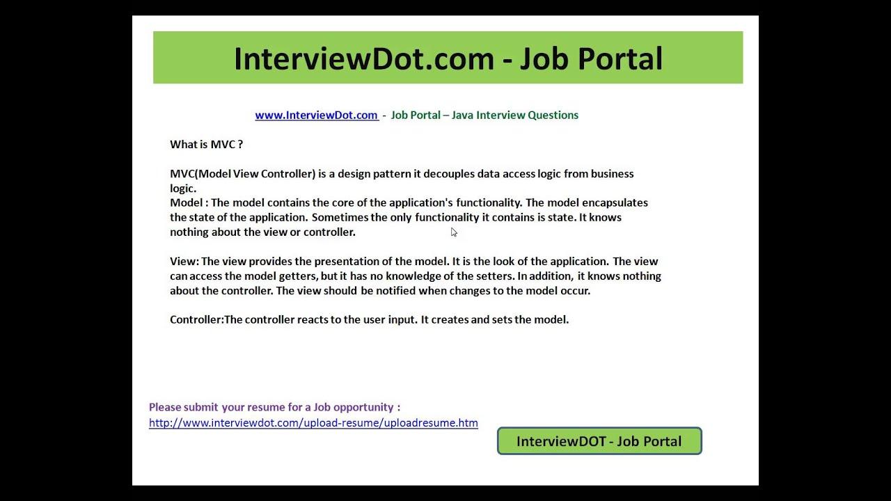 what is mvc interview question interviewdot job portal what is mvc interview question interviewdot job portal