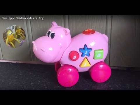 Pink Hippo Children's Musical Toy