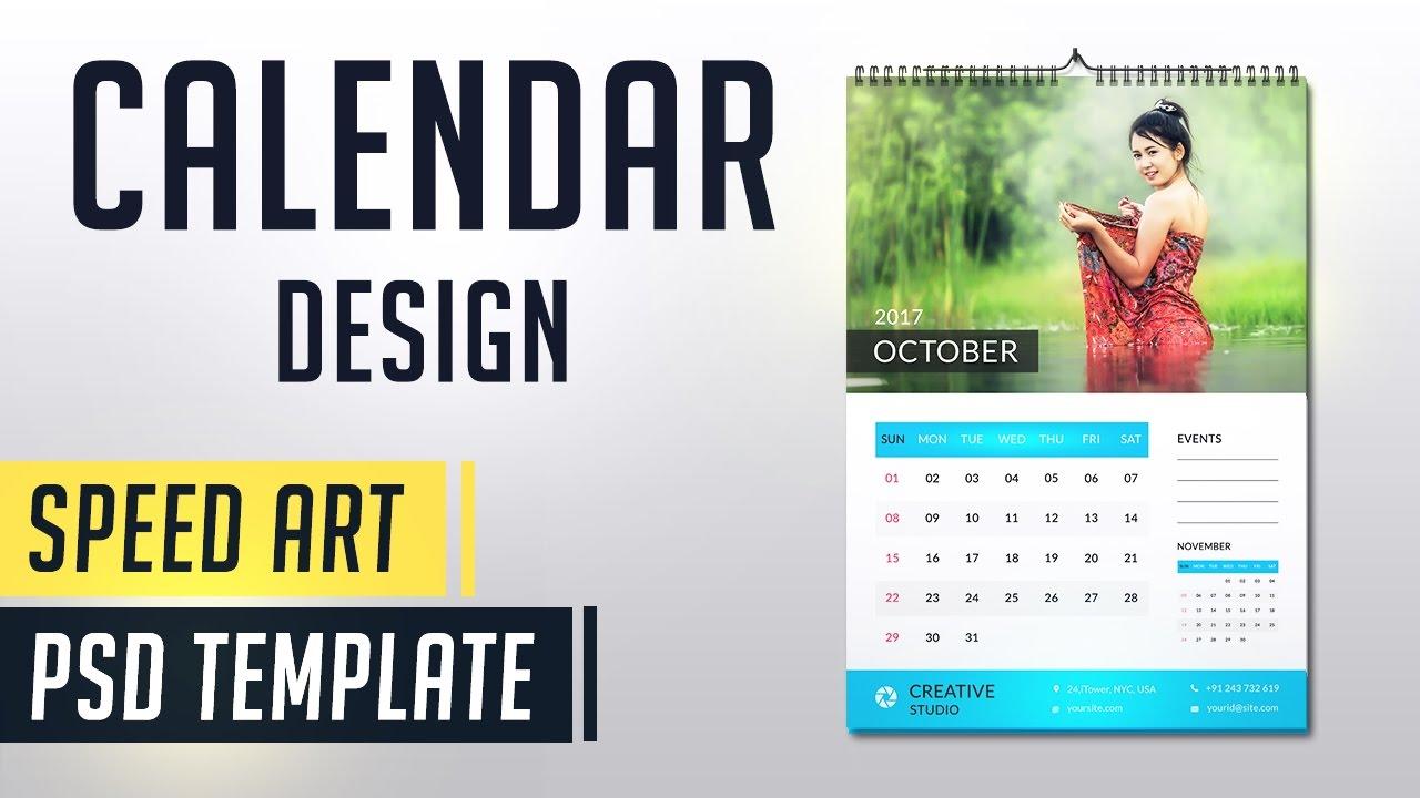 photoshop calendar template 2018