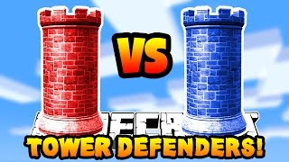 Minecraft RED VS BLUE TOWER DEFENDERS! #1 w/PrestonPlayz & Kenny