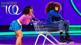 Perri and Vanessa wheel on ice! | Dancing on Ice 2020