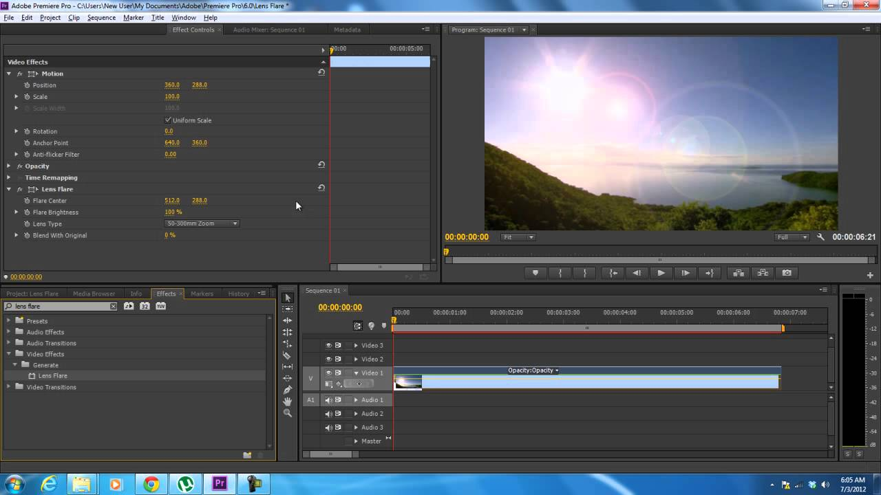 & How to Use the Lens Flare Effect in Adobe Premiere - YouTube azcodes.com