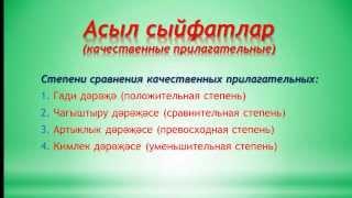 Уроки татарского языка  Урок 16  асыл сыйфатлар