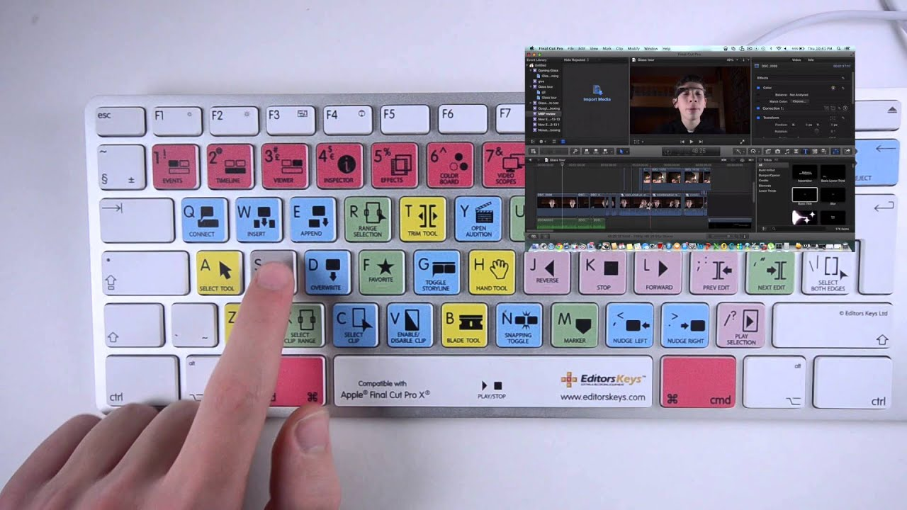 the best editing keyboard for beginners fcpx keyboard by editorskeys youtube. Black Bedroom Furniture Sets. Home Design Ideas
