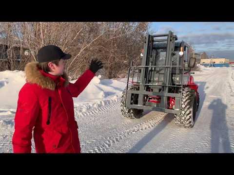 JACи снега не боятся. CPCD 35 Off Road. Погрузчик-вездеход. Вездеходный погрузчик. Полноприводный