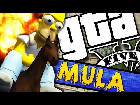 GTA V PC - Homer e o Cavalo! (MODS)